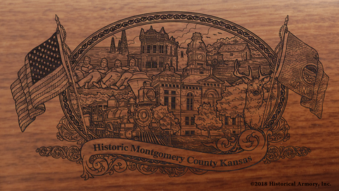 Montgomery County Kansas Engraved Rifle