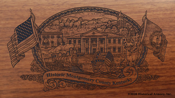 Montgomery County Kentucky Engraved Rifle Buttstock