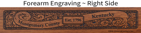 Montgomery County Kentucky Engraved Rifle Forearm Right-Side
