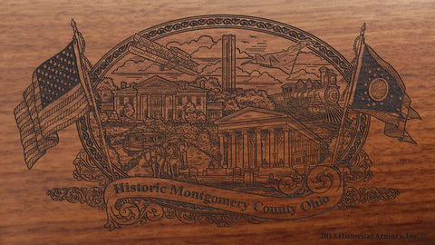 montgomery county ohio engraved rifle buttstock