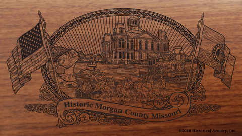 Morgan County Missouri Engraved Rifle