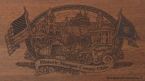 morgan county ohio engraved rifle buttstock