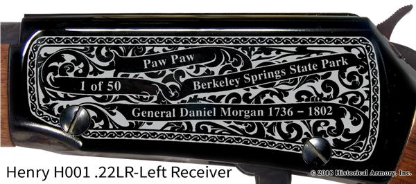 Morgan County West Virginia Engraved Rifle