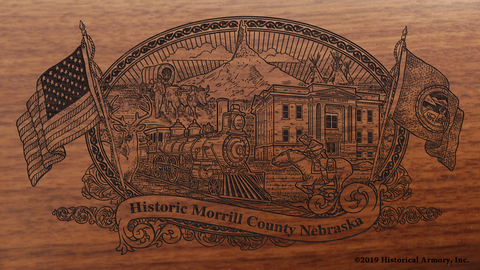 Morrill County Nebraska Engraved Rifle