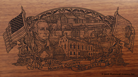 Morris County New Jersey Engraved Rifle
