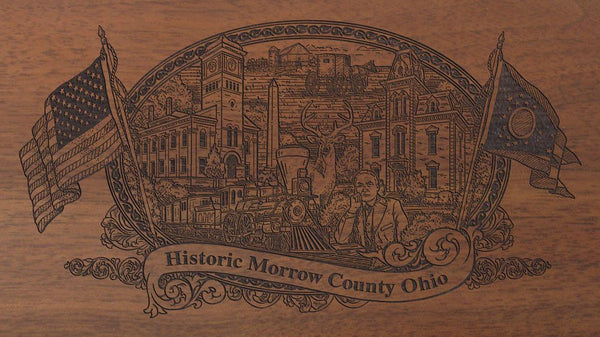 morrow county ohio engraved rifle buttstock