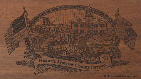 morrow county oregon engraved rifle buttstock