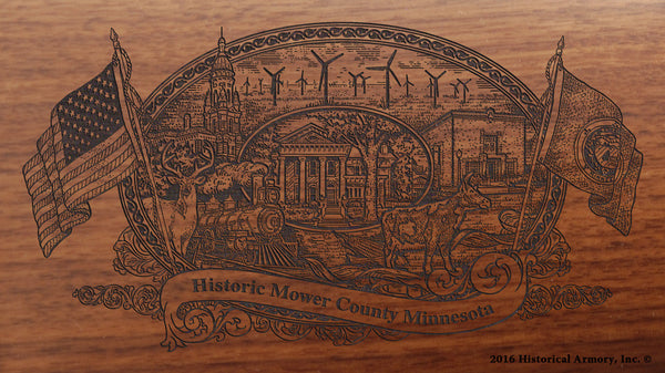 Mower County Minnesota Engraved Rifle