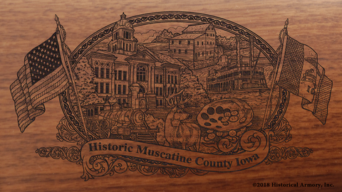Muscatine County Iowa Engraved Rifle