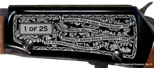 nacogdoches county texas engraved rifle h001 receiver