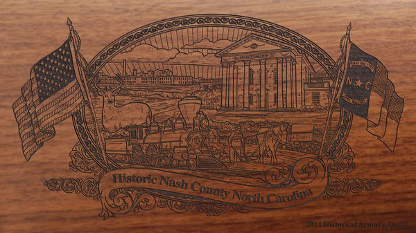nash county north carolina engraved rifle buttstock
