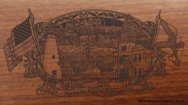 Nassau County Florida Engraved Rifle