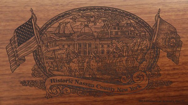 nassau county new york engraved rifle buttstock
