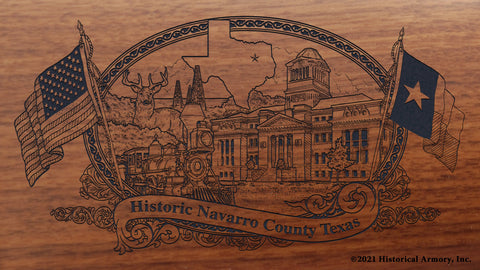 Navarro County Texas Engraved Rifle Buttstock