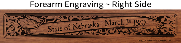 Nebraska State Pride Engraved Rifle