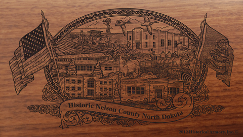 Nelson County North Dakota Engraved Rifle