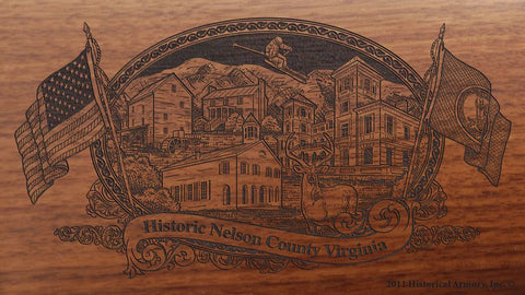 nelson county virginia engraved rifle buttstock