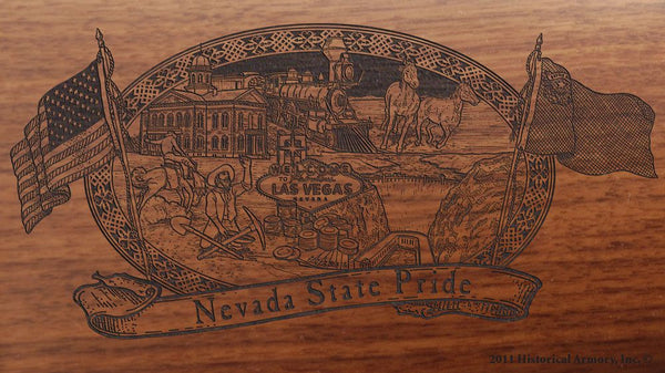 nevada state engraved rifle buttstock