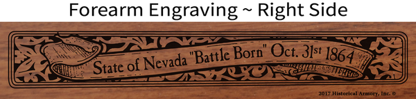 Nevada State Pride Engraved Rifle