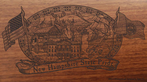 new hampshire state engraved rifle buttstock