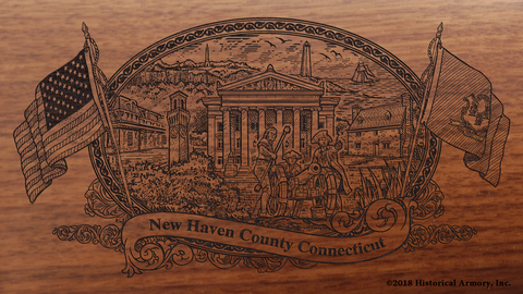 New Haven County Connecticut Engraved Rifle
