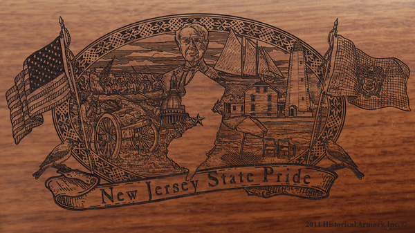 New Jersey State Pride Engraved Rifle