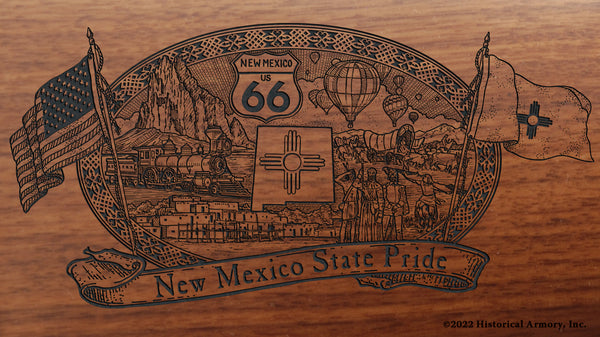 new mexico state engraved rifle buttstock