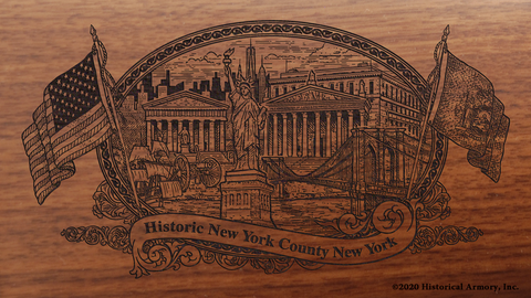 New York County New York Engraved Rifle