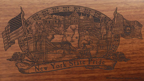 new york state engraved rifle buttstock