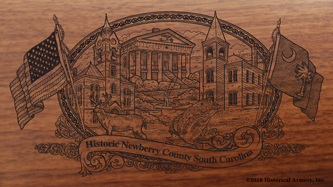 Newberry County South Carolina Engraved Rifle