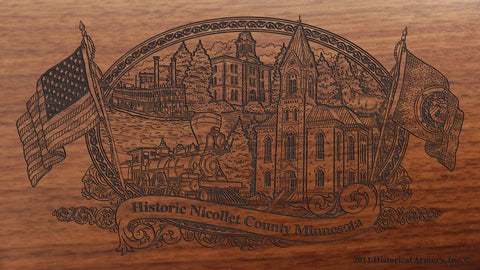 Nicollet County Minnesota Engraved Rifle