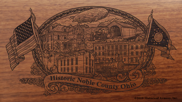 Noble County Ohio Engraved Rifle