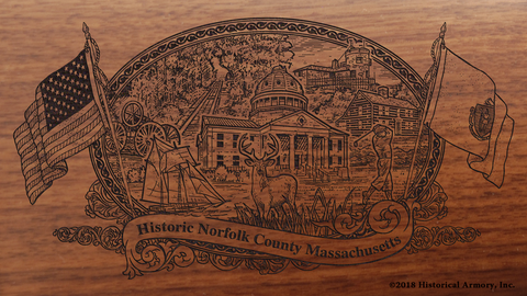Norfolk County Massachusetts Engraved Rifle