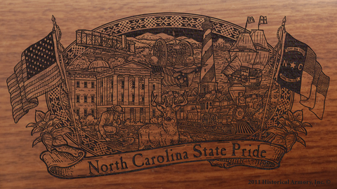 North Carolina State Pride Engraved Rifle