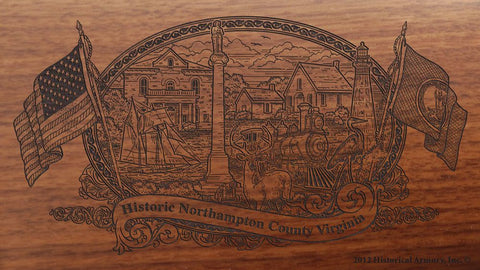 northampton county virginia engraved rifle buttstock