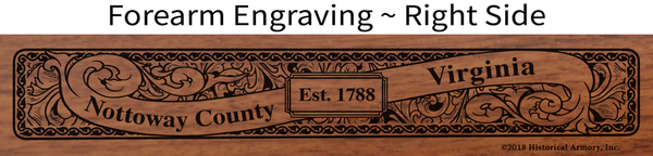 Nottoway County Virginia Engraved Rifle