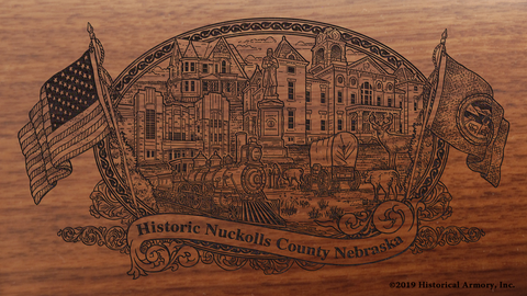 Nuckolls County Nebraska Engraved Rifle