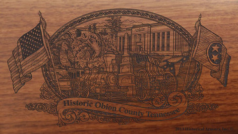 obion county tennessee engraved rifle buttstock