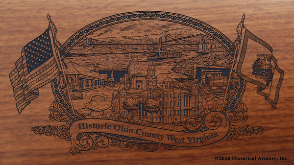 Ohio County West Virginia Engraved Rifle Buttstock