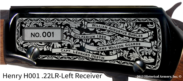 Okaloosa County Florida Engraved Rifle