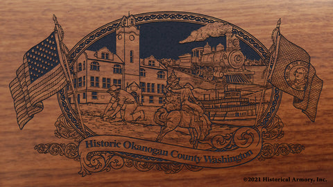 okanogan county washington engraved rifle buttstock