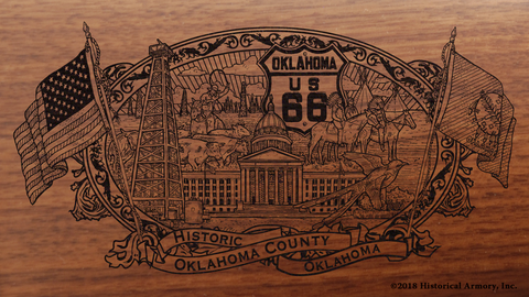 Oklahoma County Oklahoma Engraved Rifle