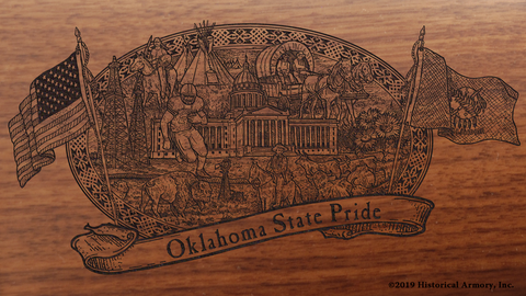 Oklahoma State Pride Engraved Rifle