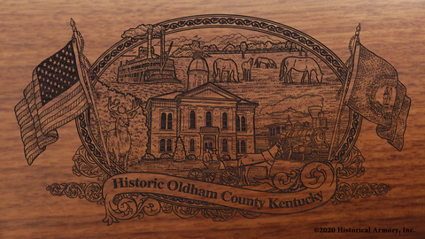 Oldham County Kentucky Engraved Rifle