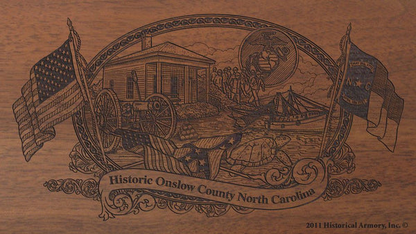 onslow county north carolina engraved rifle buttstock