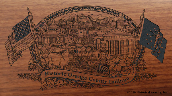 Orange County Indiana Engraved Rifle
