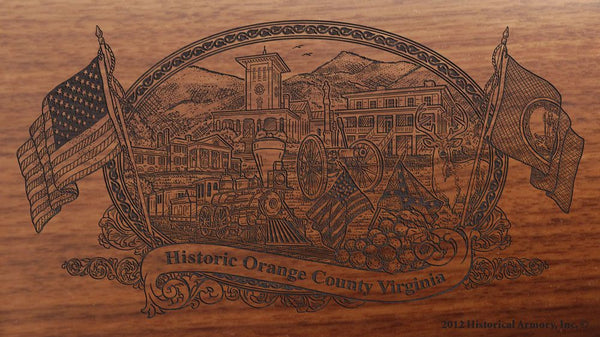 orange county virginia engraved rifle buttstock