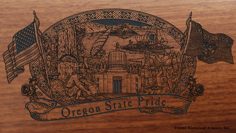 oregon state engraved rifle buttstock