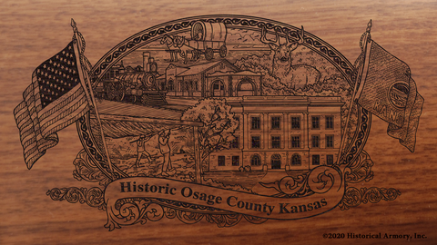 Osage County Kansas Engraved Rifle