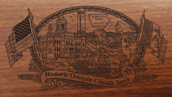 Osceola County Iowa Engraved Rifle